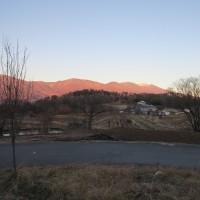 夕焼け浅間山 1
