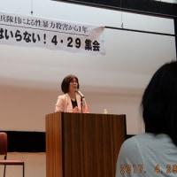 """「""""沖縄の元海兵隊員による性暴力殺害から一年""""基地・軍隊はいらない!4・29集会」に参加しました"""