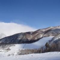 スキー場は曇り