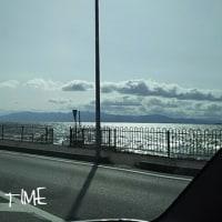 琵琶湖畔 スタバ ブルーインパルス
