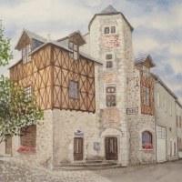 楽描き水彩画「定年後、独学で水彩画を学び、描いたフランスの風景画の個展」