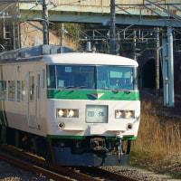 2017年2月19日 東海道貨物線 東戸塚 185系  B6編成 河津桜(多摩)9533M