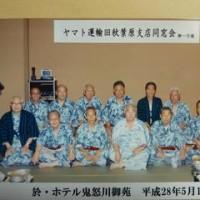 現役時代の同窓会で鬼怒川温泉に出掛ける。