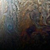 無人探査機「ジュノー」が撮影した木星の嵐や雲。