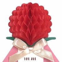 母の日のプレゼントにそえてかわいい カーネーションのグリーティングカード