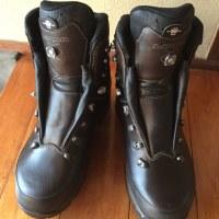 登山靴を使う前にWaxをかけました。