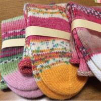 手編み靴下 作品NO.146-147-148