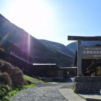 ん1000本の山桜を見て坊がつるでテント泊 4月23日