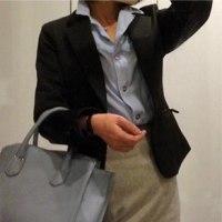 ジャケットスタイルコーデと今年買い換えたスカート♪♪=うっつ。。。絞らねば(^^ゞ=【通勤編】