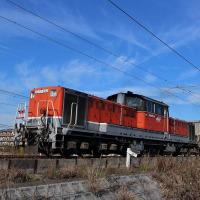 DD51-890号機が晴天の海蔵川アプローチを駆け上がる!
