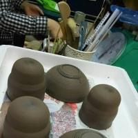 今日は陶芸教室でした