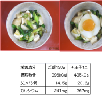 1017 九条ネギと豆腐の丼