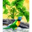 絵画販売・ポストカード「44・ゆかいなシーサー」「45・南国のオーム」