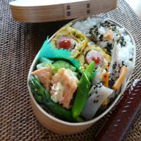 お弁当(鮭&さつま芋のチーズ焼き)