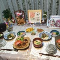 車麩のステーキ&豆腐の野菜とシーチキンソースがけ
