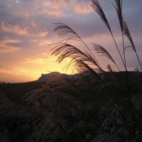 曽爾高原の夕暮