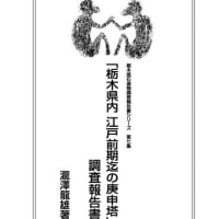 栃木県内江戸前期迄の庚申塔調査報告書、最終第三版が完成!
