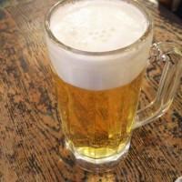 まんぷく食堂 大久保で  ビール