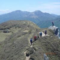 三嶺から天狗塚を縦走する@徳島県