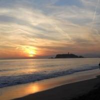 七里ヶ浜の夕日