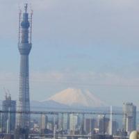 東京スカイツリーと富士山のコラボ(2011年元旦)