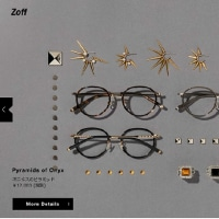 LOVE BY e.m.      zoffでまるでジュエリーなEyewear Collection