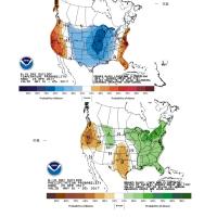 米国 6-10日天気予報図