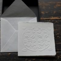 越前手漉き和紙 凹凸のある美しいグリーティングカード Decor Washi