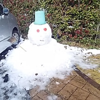 雪降りは特別な気分*[つらら]もできています