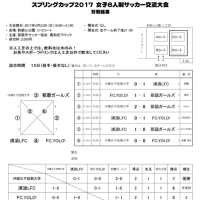 スプリングカップ2017女子8人制サッカー交流大会結果