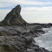 烏帽子岩に海釣りに出掛けた
