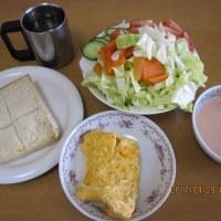久しぶりの、朝ご飯