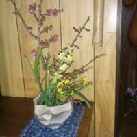 妻が生けた花でも見ながらリラックス!
