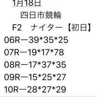 1/18 四日市競輪  F2 ナイター 初日