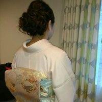 15日の出張着付4件目は、大阪狭山市のK様の訪問着&ヘアセットでした。
