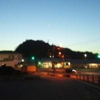 2017.3.11 大東駅の空に一番星