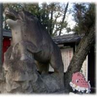 話題の笑う狛犬シリーズ(^^♪京都「護王神社」の狛犬は、犬ではなく、珍しい「狛いのしし」