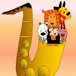 サックスホーンと動物たち