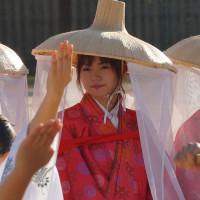 おにぎえ祭 御神幸行列 観光柳川水の精・橋本あかね 2016・10・9