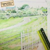 小豆島の風景(色鉛筆)