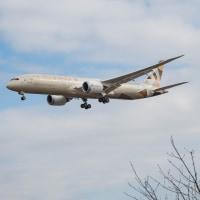 エティハド航空のボーイング787-9 初撮影! (12月3日 成田空港)