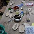 413.陶芸体験~ステンシルの絵付け