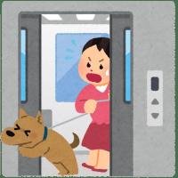 マンション内の犬の移動はルールを守って(エレベータでの首吊り事故防止のためにも)