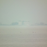 琵琶湖の蜃気楼ウォッチングに行ってはみたものの
