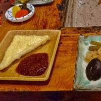 阿蘇高森の郷土料理味噌田楽に舌鼓を打つ。