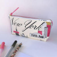 NEWYORK柄のペンケース&久しぶりの帰省
