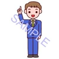 男性・立ちポーズ2/社員/販売・ビジネスのイラスト