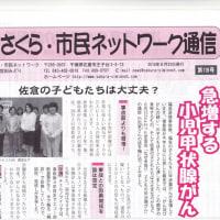 8/22 さくらネット通信119号発行 特集「急増する小児甲状腺がん」