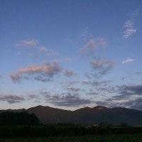 今朝の足尾山と加波山