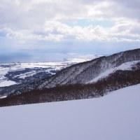 県内の雪山歩きはマキノから